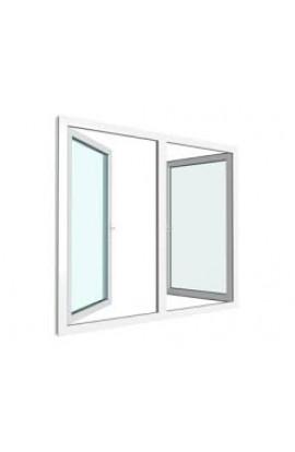 PVC utadslående 2 rams vindu